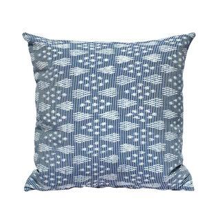 """Arjuna Indigo"" Handwoven Ikat Pillow"