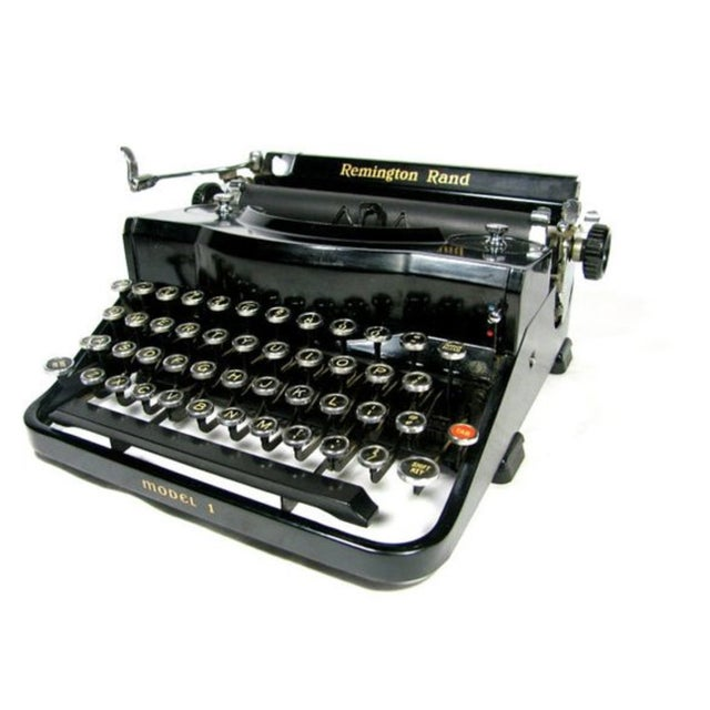 Antique 1930s Remington Rand Typewriter with Case - Image 2 of 4