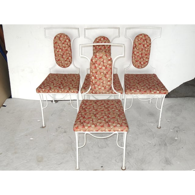Image of Mid-Century Modern Metal Chairs - Set of 4