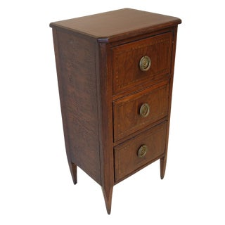 French Neoclassical Mahogany Bedside Chest of Drawers circa 1890