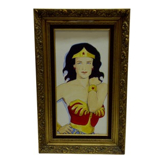 """Wonder Woman"" Original Painting on Canvas by Sam Thorp"