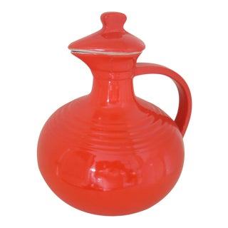 Hall Pottery Vintage Chinese Red Carafe