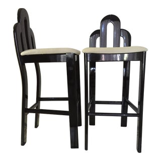 Art Deco Bar Stools - A Pair