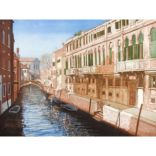 F. St. Clair Miller Venice Italy Etching