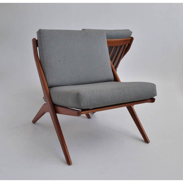 Folk Ohlsson Scandinavian Scissor Lounge Chairs - Image 2 of 10
