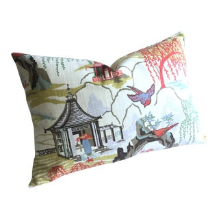 Asian Chinoiserie Pillow Cover