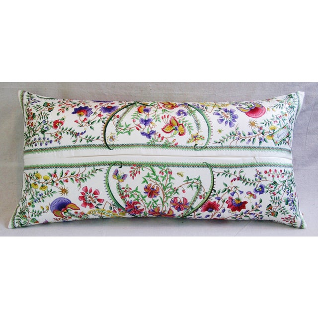 Designer Italian Gucci Floral Fanni Silk Pillow - Image 6 of 11