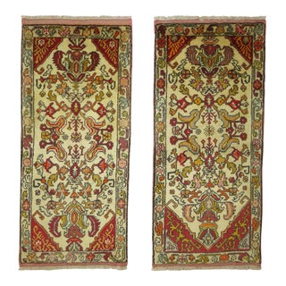 Hand-Knotted Turkish Rugs - 1′9″ × 3′8″ - A Pair