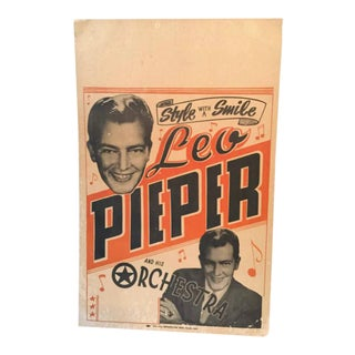 1940's Leo Pieper & His Orchestra Dance Band Poster