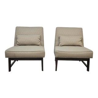 Dunbar Angular Slipper Chairs by Roger Sprunger