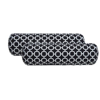 Black & White Geometric Bolster Pillows - A Pair