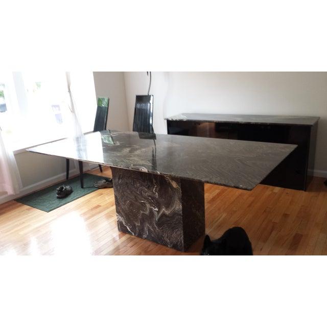 Roche Bobois Italian Marble Dining Set - Image 7 of 9