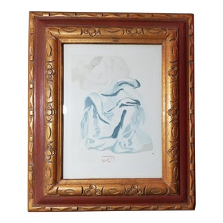 """Salvador Dali """"The Infinite Beauty of Beatrice"""" Color Woodcut"""