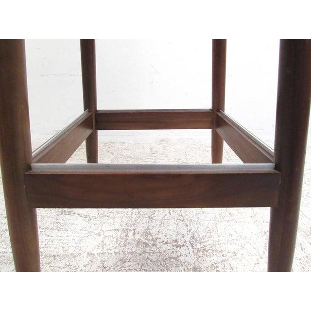 Mid-Century Modern Clamshell Bar Stools - Set of 3 - Image 10 of 11