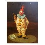 Image of Vintage Clown Painting