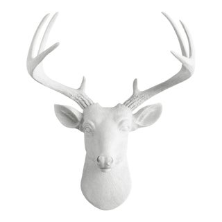 Wall Charmers White Faux Deer Head