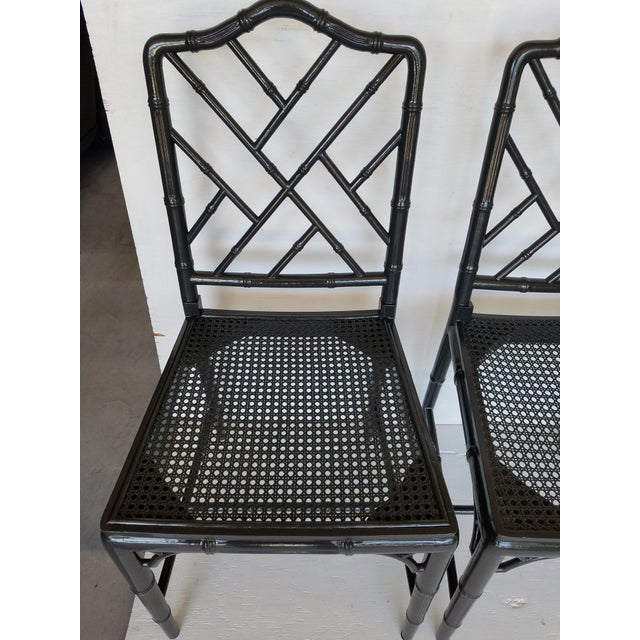 Vintage Wood Chippendale Chairs - Set of 6 - Image 4 of 7