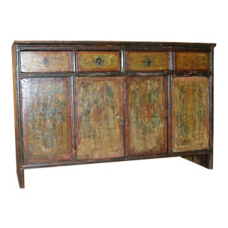 19th Century Hand Painted Sideboard Chest