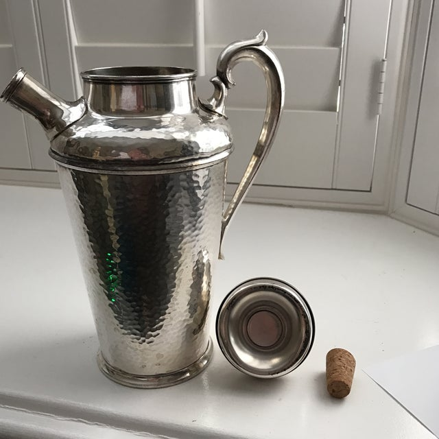 International Silver Co. Hammered Cocktail Shaker - Image 7 of 10