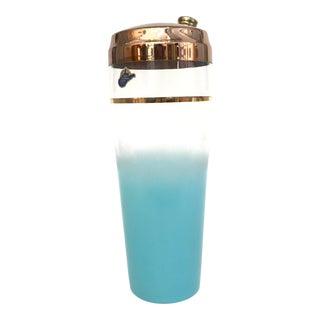 Handmade Aqua Ombré Cocktail Shaker