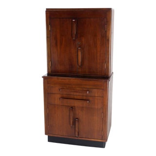 Art Deco Walnut Dental Medicine Cabinet