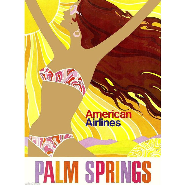 Matted & Framed Palm Springs Travel Poster - Image 1 of 2