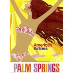 Image of Matted & Framed Palm Springs Travel Poster