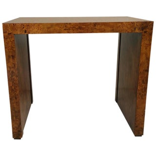 Milo Baughman Burlwood Table