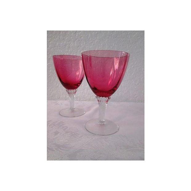 Vintage Raspberry & Honey Wine Glasses - S/4 - Image 3 of 6