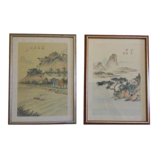 Pair of Japanese Watercolors