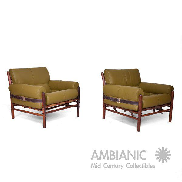 """Arne Norrel """"KONTIKI"""" Pair of Safari Chairs - Image 11 of 11"""