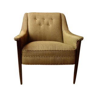 Cashmere & Wool Striped Chairs - Pair