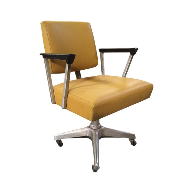 Vintage Yellow Office Chair - Image 1 of 7