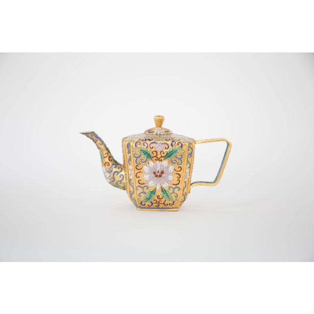 Chinese Champleve Enamel Teapot - Image 2 of 6