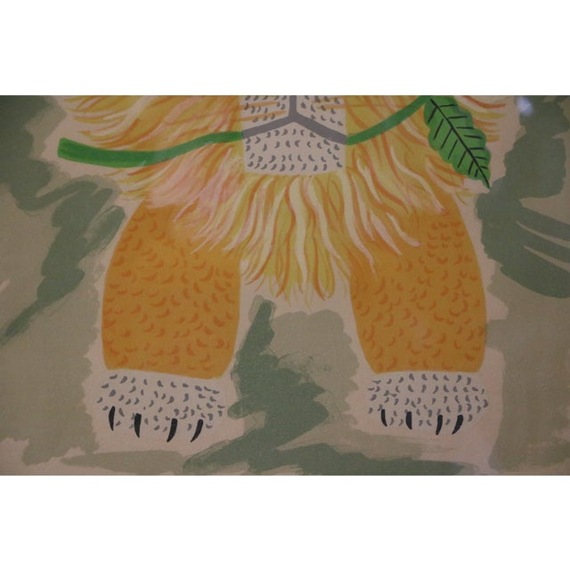 Image of Lion & Butterfly Lithograph by Henri Maik