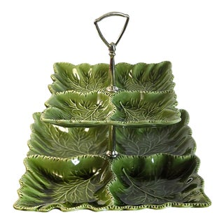 Green Tiered Serving Dish