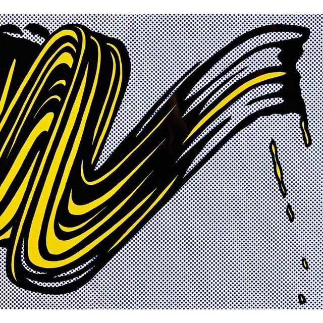 "Image of ""Brushstroke"" Poster by Roy Lichtenstein"