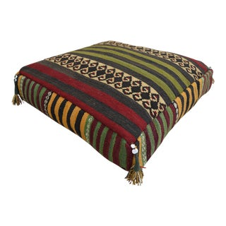 Turkish Hand Woven Floor Cushion Cover