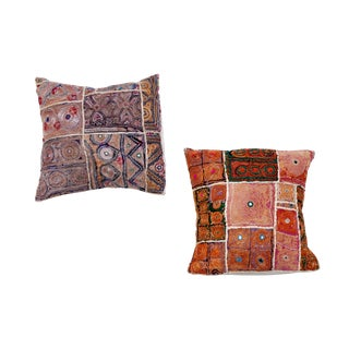 Indian Embroidered Pillows- A Pair