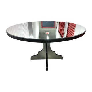 Round Beveled Mirror Dining/Entryway Table