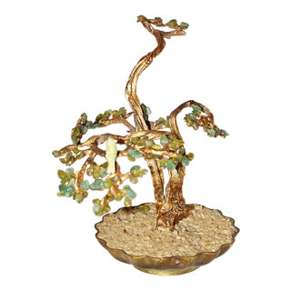 Brass and Jade Bonzai Tree