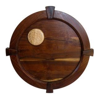 """Full Moon 32"""" Round Walnut Medallion"""