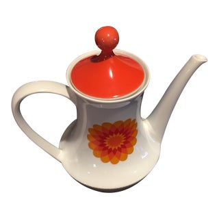 Mid-Century Modern Porcelain Coffee Pot