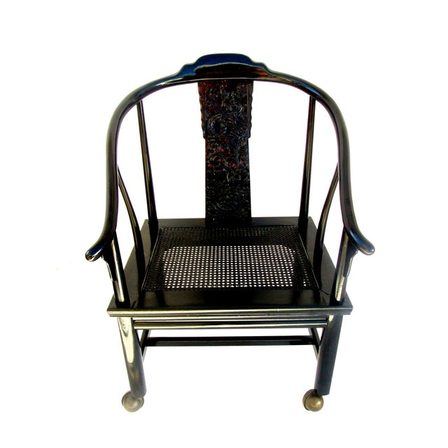 Vintage James Mont Lacquered Ming Chair - Image 7 of 7