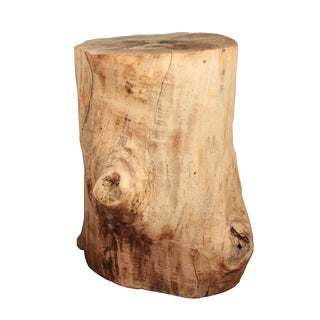 Antique Tree Stump Table