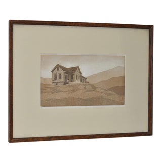 Richard Haupt East of Truckee Etching