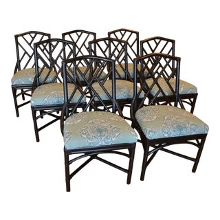 Chinese Chippendale Dining Chairs - Set of 8