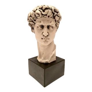 Mid-Century Chalkware Bust Sculpture of David