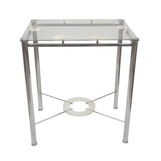 Chrome and Lucite Side Table