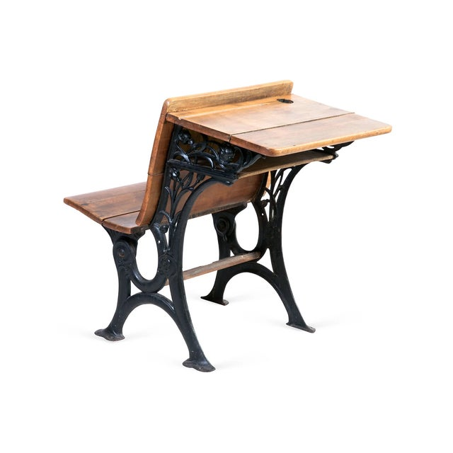 Antique Country School Desk - Image 3 of 5
